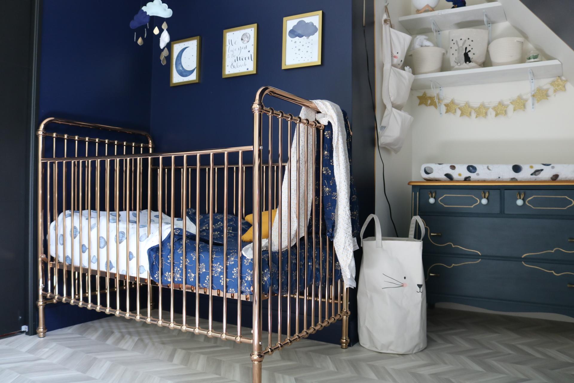 Réalisation design d'intérieur résidentielle La nocturne chambre bébé cuivre ETC 2019