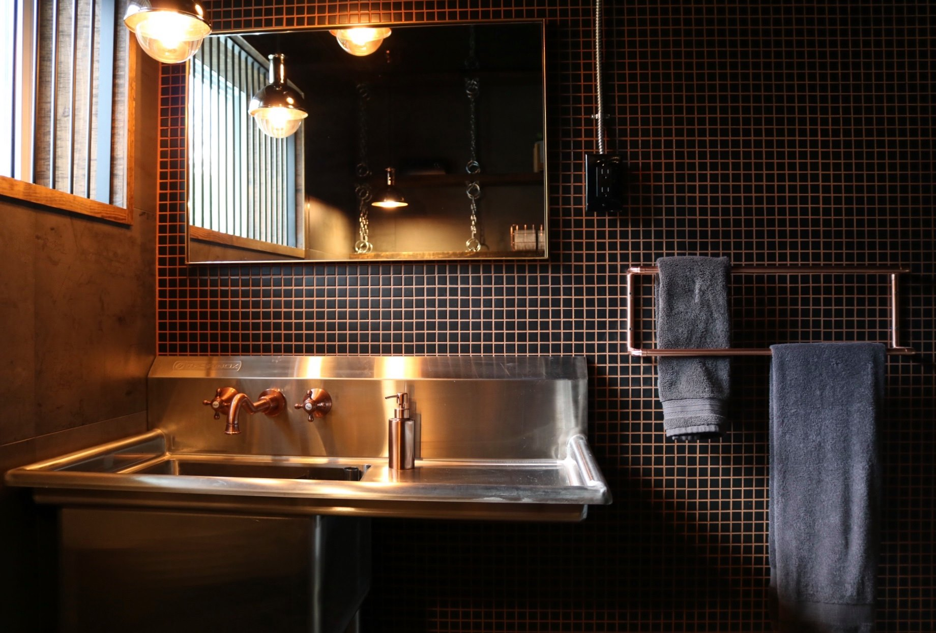 Réalisation design d'intérieur résidentielle L'unique salle d'eau lavabo ETC 2018