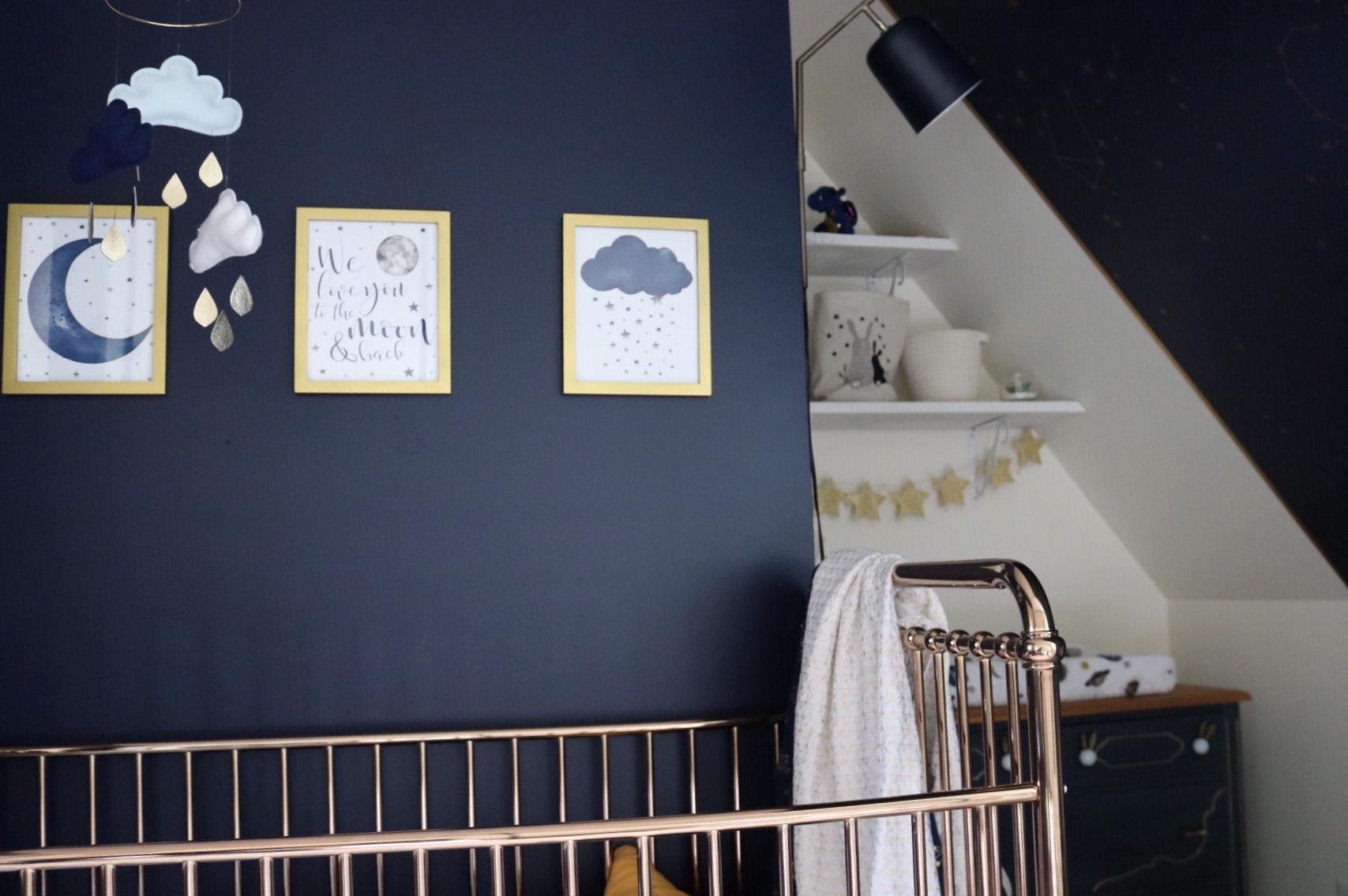 Réalisation design d'intérieur résidentielle La nocturne chambre bébé cadre ETC 2019
