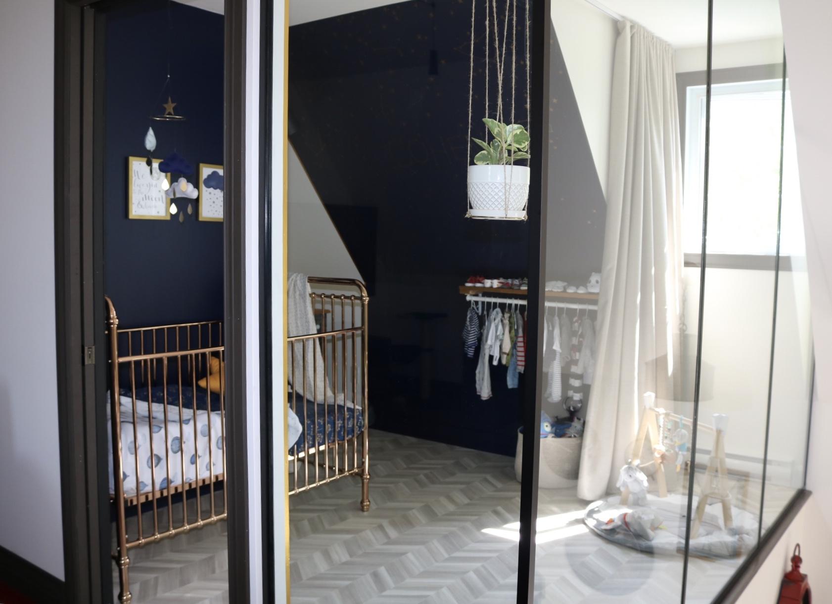 Réalisation design d'intérieur résidentielle La nocturne chambre bébé bleu ETC 2019