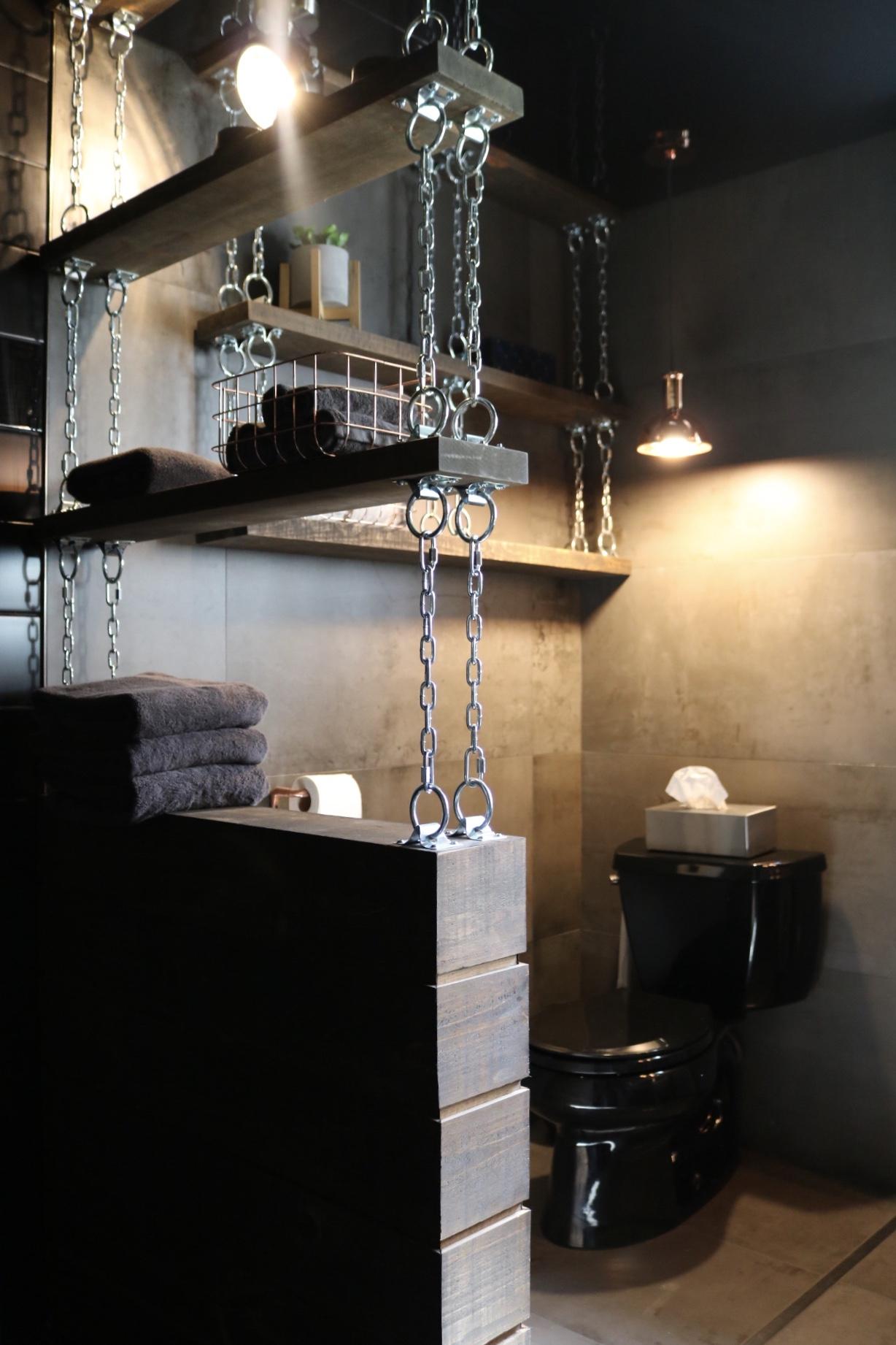Réalisation design d'intérieur résidentielle L'unique salle d'eau toilette ETC 2018