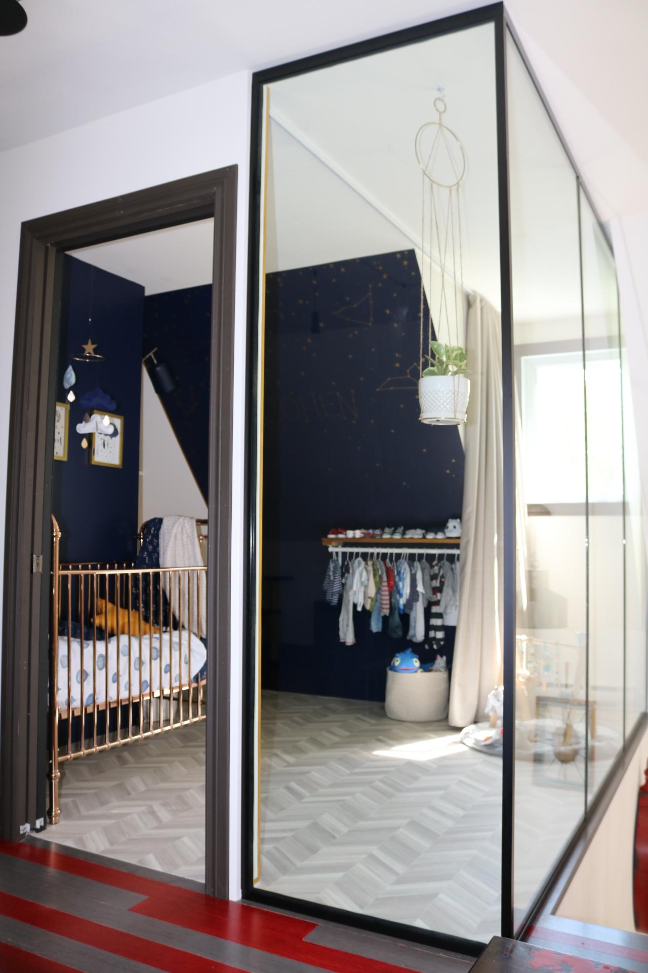Réalisation design d'intérieur résidentielle La nocturne chambre bébé vitre ETC 2019