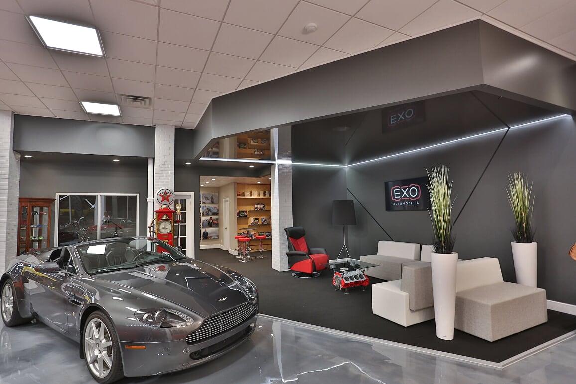 EXO Automobiles coin lounge Struktura design 2020