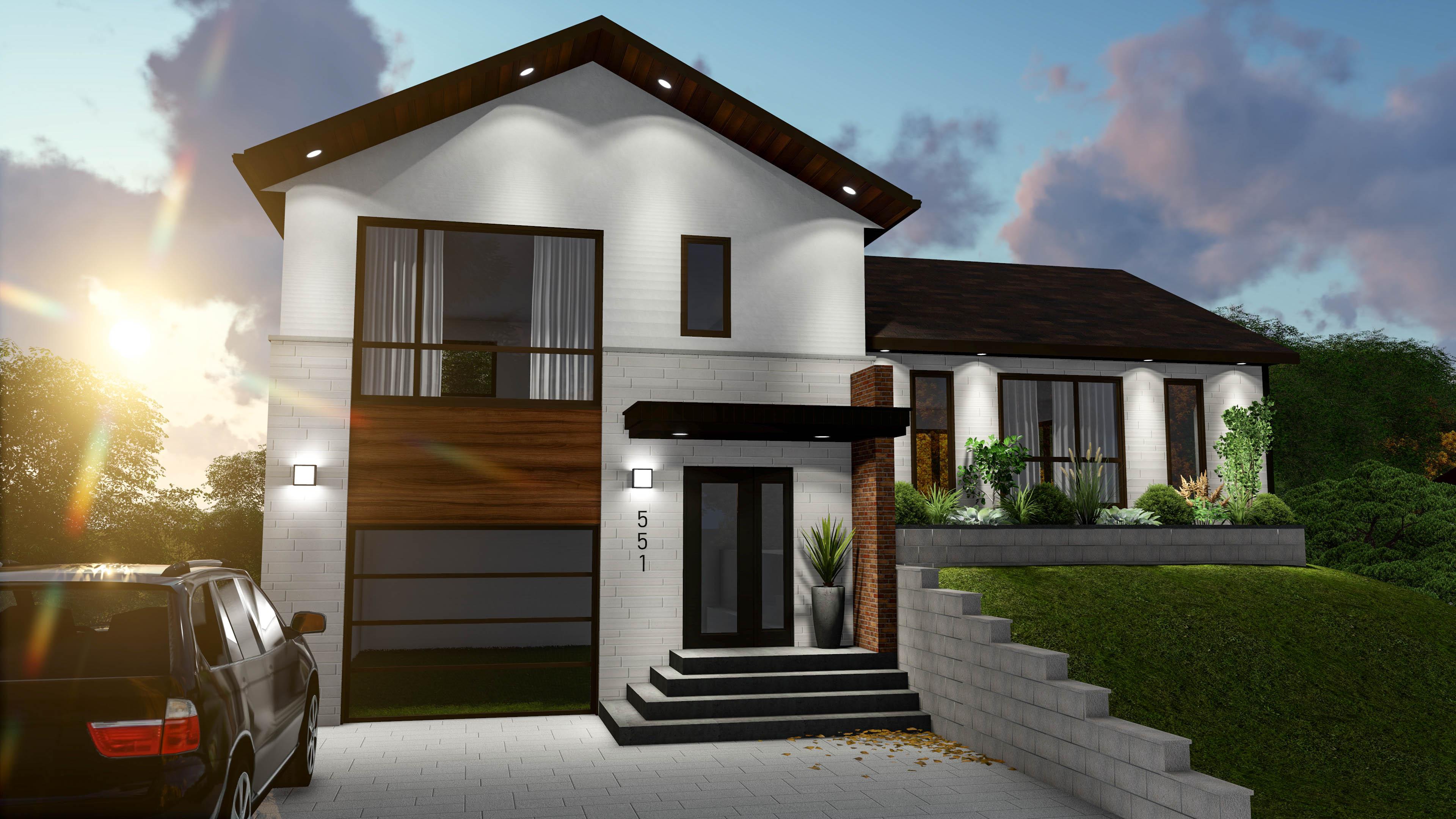 La stature extérieur vue façade Struktura 2020
