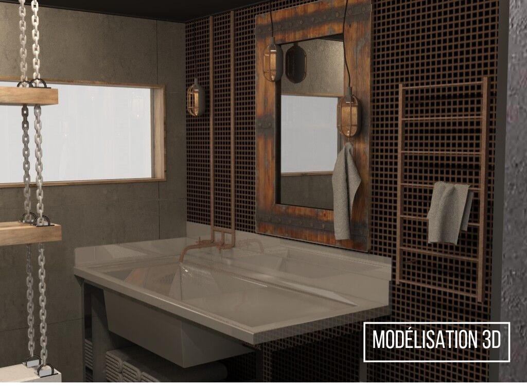 Réalisation résidentielle modélisation 3D L'unique salle d'eau lavabo ETC 2018 (5)