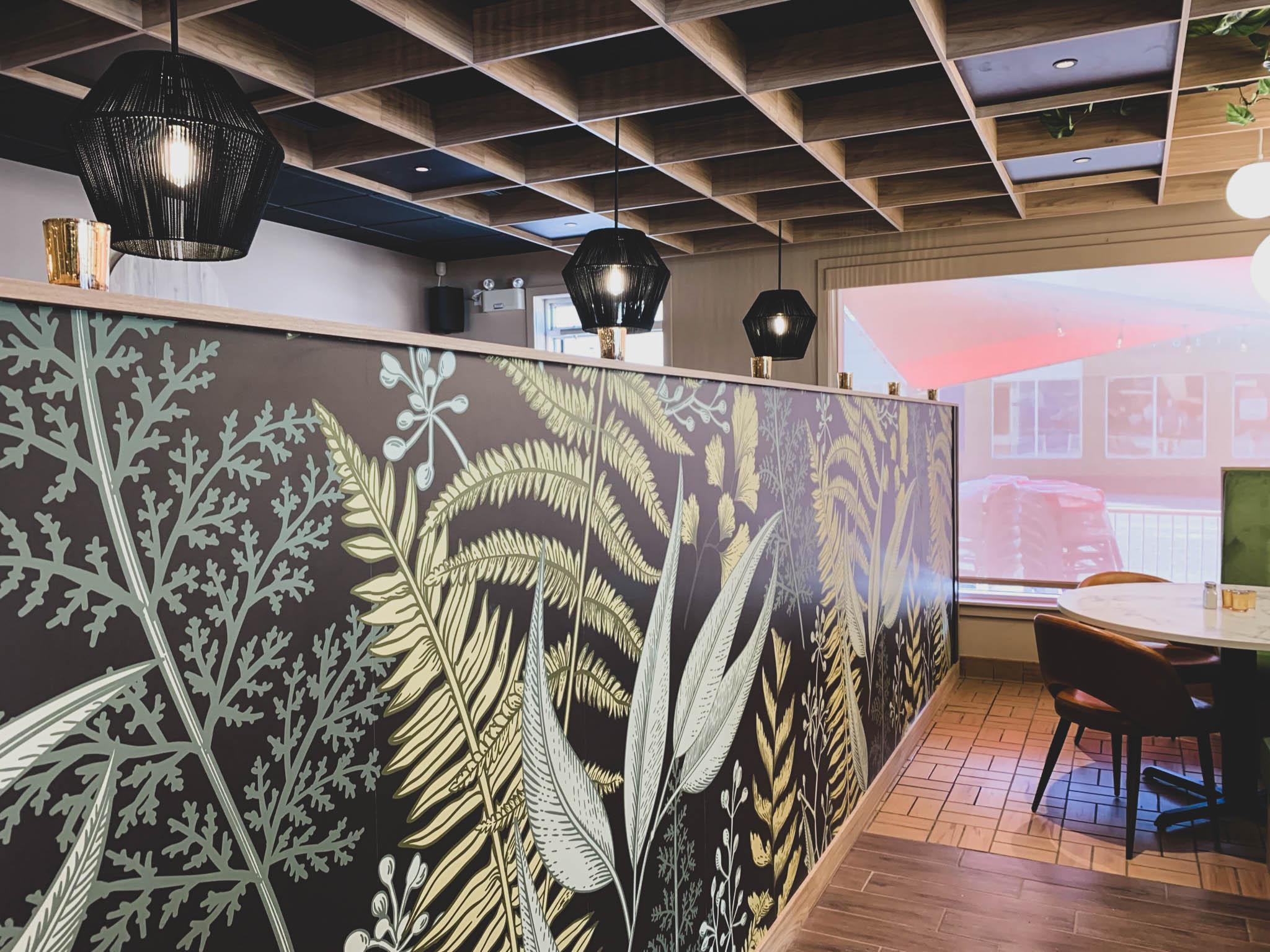 Réalisation Basha Nomade papier peint design Struktura 2021