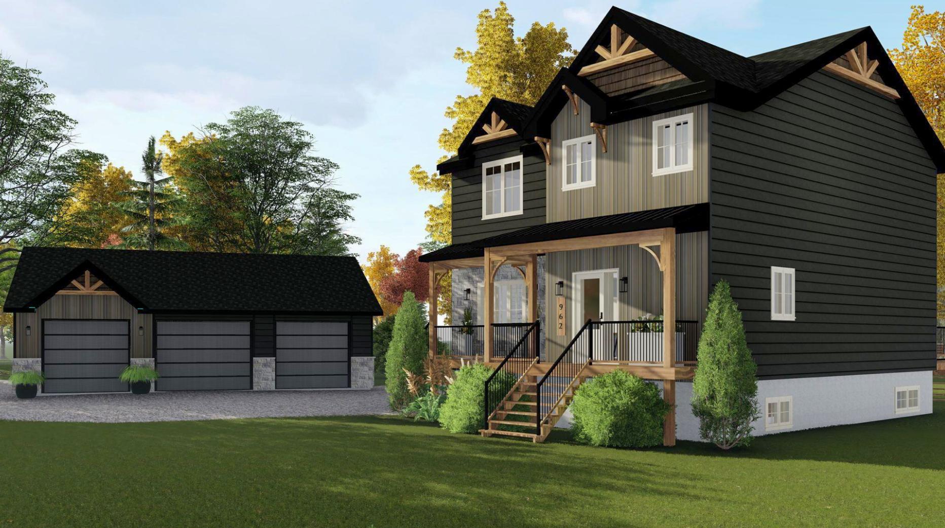 Réalisation Le cottage garage -modélisation 3D Struktura